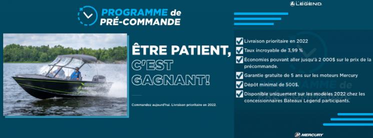Programme de Pré-Commande 2022 Legend