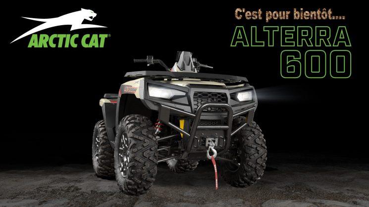 Alterra 600 d'Arctic Cat…Du nouveau sous la bouette !!